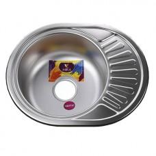 Мойка круглая с полкой (мини кепка) 570х450х180 Decor