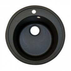 Мойка керамогранит круглая (черная)