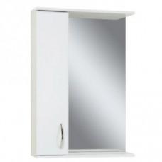Зеркало Сансервис ZL-55 со шкафом, белое, левое