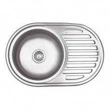 Кухонная мойка врезная 770х500/180мм Decor