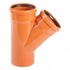 Тройник 110/110/45 для наружной канализации
