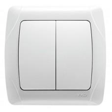 Выключатель 2-клавишный VIKO белый