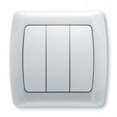 Выключатель 3-клавишный VIKO скрытой установки белый