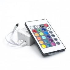 Контроллер для RGB LED ленты 12A 12V (144W max) инфракрасный (пульт на 24 кнопки)